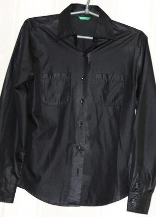 Крутая рубашка под кожу united colors of benetton, италия, оригинал