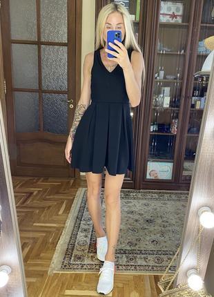 Платье колокольчик в рубчик h&m