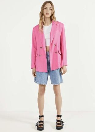 Новый льняной пиджак bershka