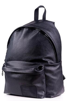 Городской женский рюкзак экокожа черный