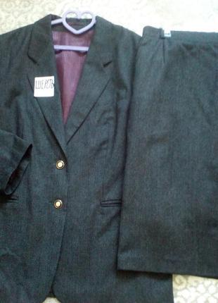 #винтажный шерстяной комплект #пиdжак  и бка # большой размер 44\16#