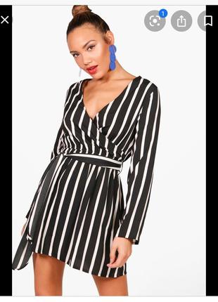 Легкое летнее платье с рукавом boohoo