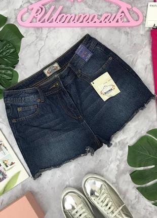 Джинсовые шорты нсыщеного синего цвета  sr1804138  vintage