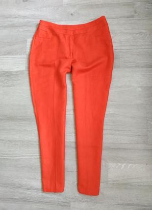 Красные льняные брюки next