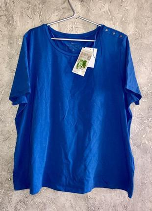 🦋яркая футболка трикотажная хлопковая большого размера новая с биркой
