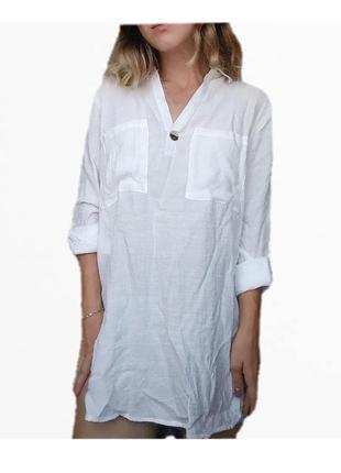 Вискозная легкая рубашка