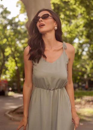 Платье длинное с завязками
