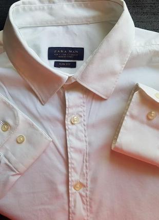 Брендовая топовая базовая белая рубашка zara m l
