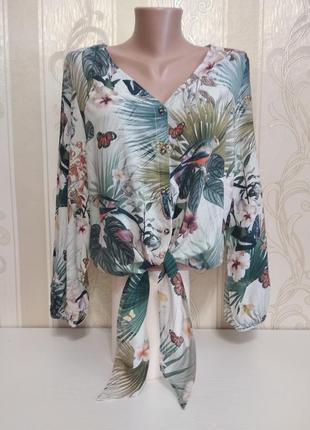 Красивая рубашка с длинными завязками, h&m