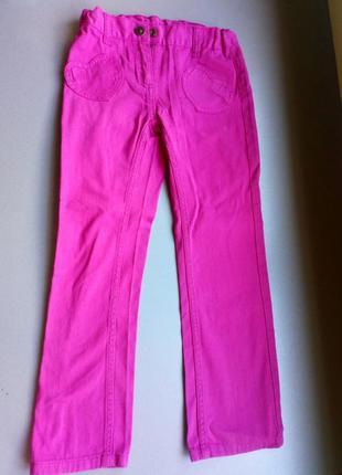 Яркие красивые розовые джинсы от lupilu
