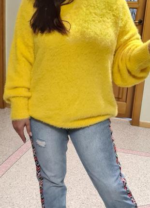 Жёлтый джемпер оверсайз f&f