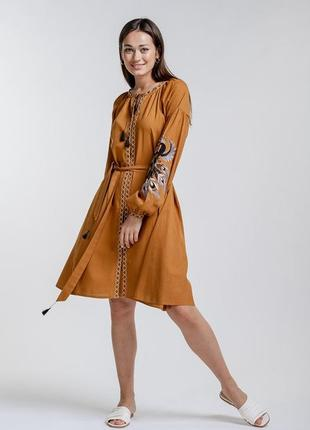 Платье-вышиванка с жар-птицей