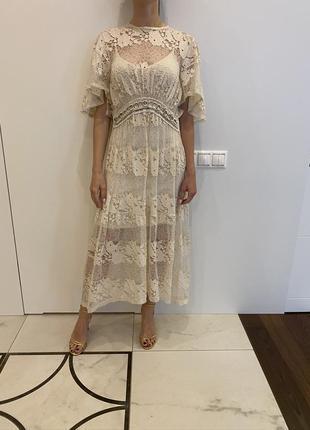 Сукня мереживна zara