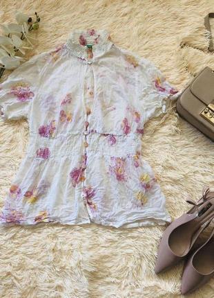 Фирменная блуза united colors of benetton, размер s, жатка