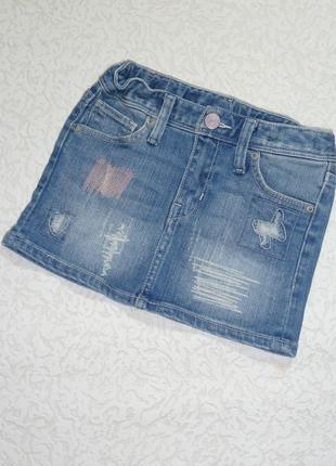 Джинсовая юбка denim на 2-3 года