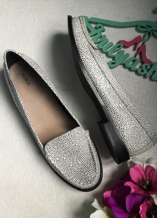 Туфли кожаные лоферы akira