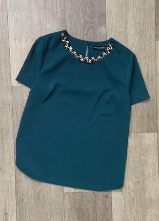 Блузка синего коралла dorothy perkins