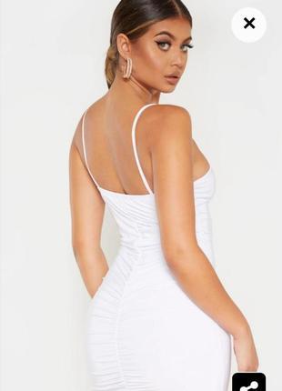 Шикарное белое платье prettylittlething💕😘🌺