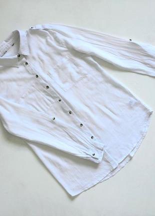 Качесттаенная коттоновая белая рубашка