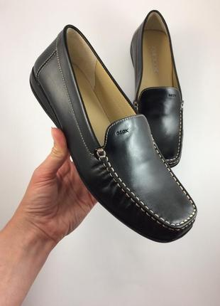Geox кожаные мокасины туфли оригинал