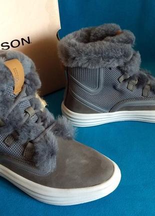 Зимние ботинки mark nason (skechers), натуральный мех, размер 36.5-37