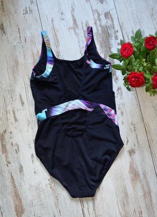 Слитный купальник marks & spencer black mix сдельный купальник с яркими полосками