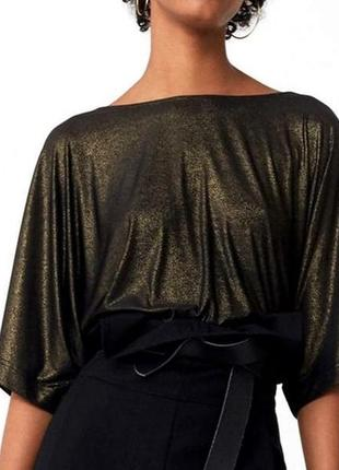 Новая блуза кофточка топ с шиммером mango
