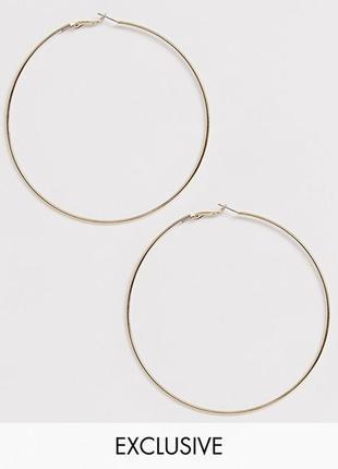 ⚜️🌹 базовые крупные серьги кольца золотистые от liars&lovers с сайта asos