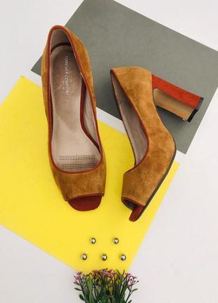 Замшевые туфли с открытым носком next
