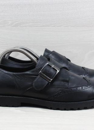 Кожаные женские туфли clarks оригинал, размер 40 - 41 (монки)