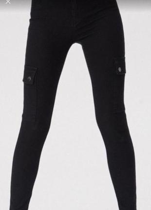 Штани чорні з кишеньками sinsay