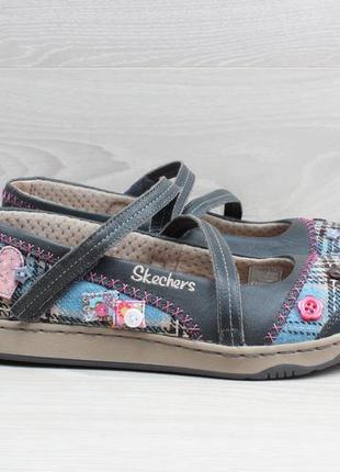 Женские кожаные туфли / балетки skechers оригинал, размер 39