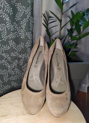 Акційна ціна! туфли из натуральной замши tamaris