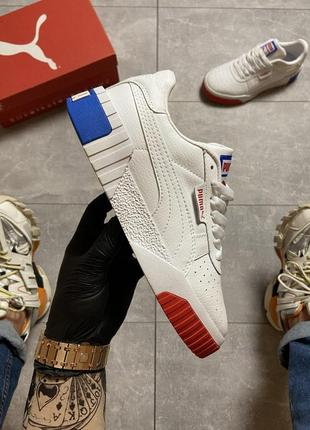 Женские кроссовки🔺puma cali white and blue/red🔺