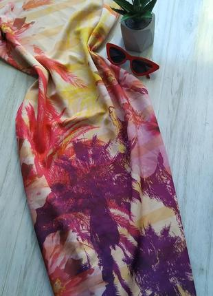 Красивое цветастое платье - миди по фигуре 🔥