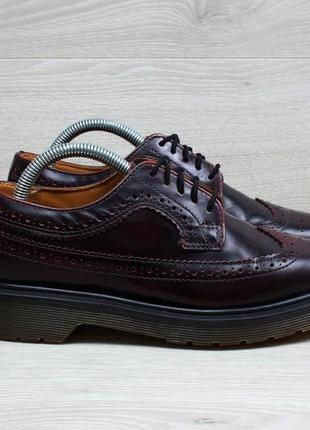 Кожаные женские туфли / броги dr. martens оригинал, размер 36