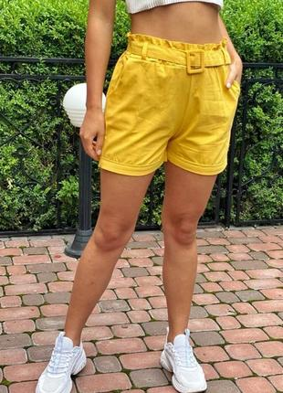 Летние женские шорты с поясом