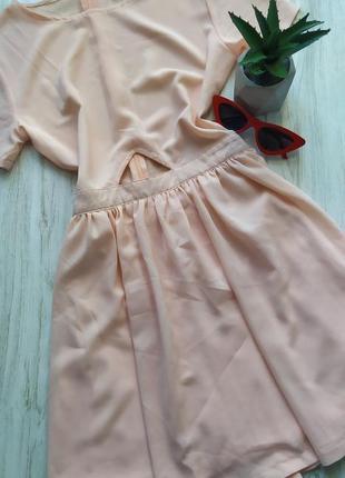 Пудровое нежное шифоновое платье 🤩