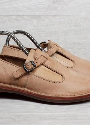 Женские кожаные туфли с пряжкой clarks originals, размер 37 - 37.5