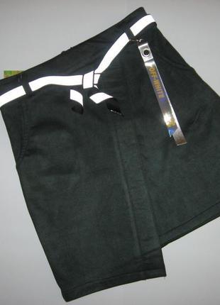 Стильная юбка на 8-16лет. замша