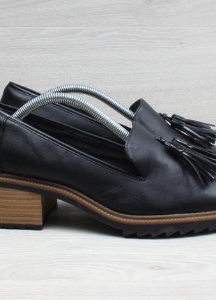 Женские туфли / лоферы на каблуке clarks оригинал, размер 38.5
