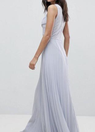Длинное голубое макси платье asos