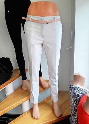 Пудрові базові  штани польща