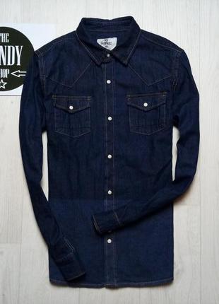 Стильная джинсовая рубашка bellfield, размер m