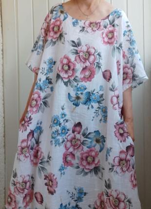 Натуральное платье батал торг большой размер