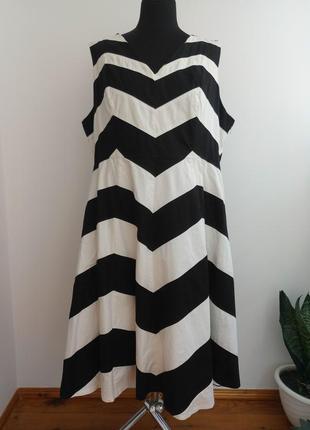 Стильное натуральное 100 % хлопок платье 22 р от per una