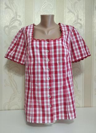 Новая блуза с коротким рукавом со шнуровкой на спине