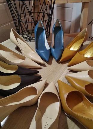 Акційна ціна! туфли-лодочки vicini, натуральная кожа