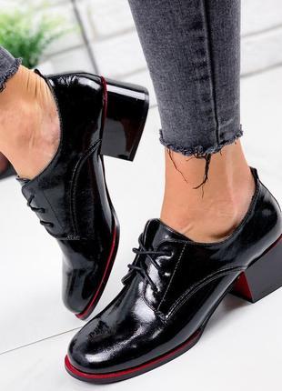Новые шикарные женские чёрные лаковые туфли