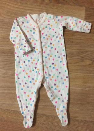 Человечек пижама для малыша 3-6 месяцев унисекс